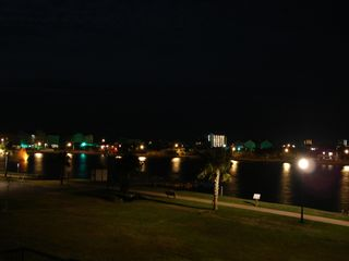Carolina Beach condo photo - Night from Deck facing the lake