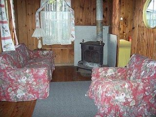 Jefferson cabin photo - The parlor stove gives ambience