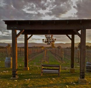 Pergola to enjoy sunsets on the vineyard.