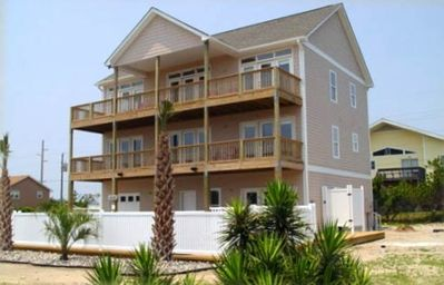 View of the front of the beach house