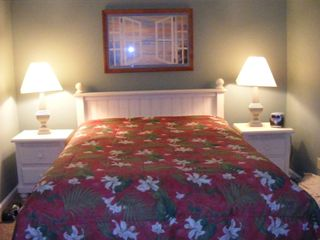 North Ocean City condo rental - Master bedroom with bath