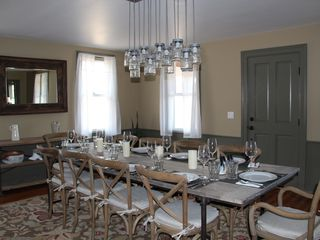 Roxbury farmhouse photo - Dining table, seats 10.