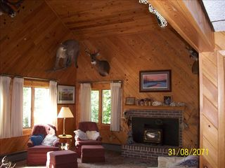 Lyman Lake house photo - our living room will give you that cozy up north theme