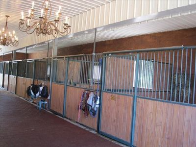 stable on the lower level