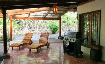 The Grill and longe area on the Lanai.