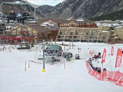 Village Point is right in front of lift and tubing hill, and next to Day Lodge