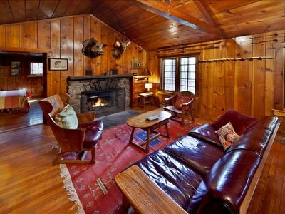 Creekside Knotty Pine 1930s Lodge on 575 Acre Forest Preserve