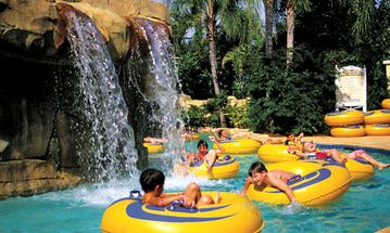The lazy river at the Reunion water park