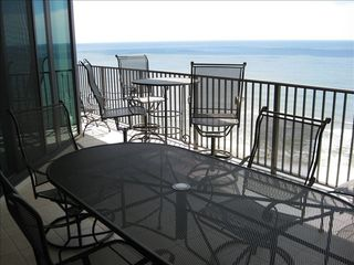 Orange Beach condo photo - Enjoy the view and breeze on the balcony