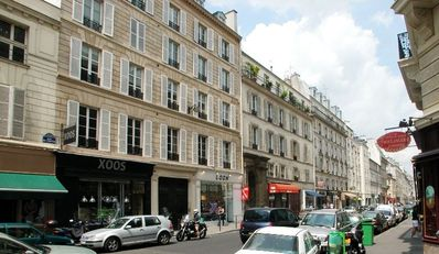 Bottom of Rue de Turenne -it's Le Marais
