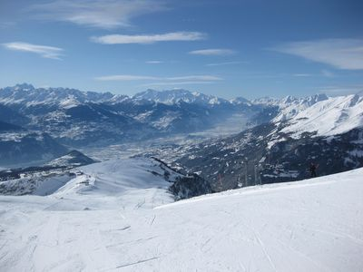 My favourite ski run: Bella-Lui! What a view!
