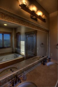 Master bathroom with jetted tub and great views