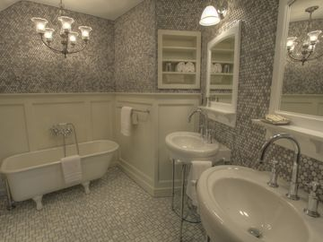 The Lake Superior Suite features this Master Bath