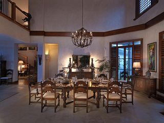 Montego Bay villa photo - Dine indoors at the formal dining table, or out in the pavilion in the open air