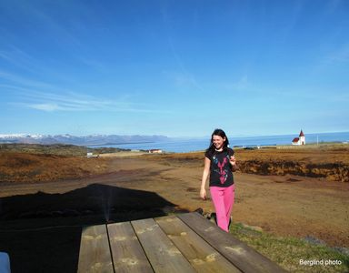 Northwest Iceland cottage rental - In front of our cottage view as far as you can see
