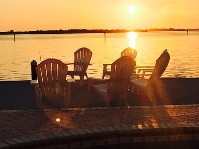 Sunrises over the inter-coastal waterway makes our location best on the island.