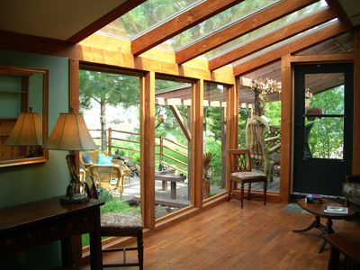 Sunroom with great views in all directions. Great on cool mornings and evenings.
