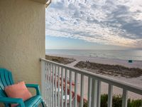 Affordable Beachfront Studio Condo with Private Balcony Facing the Gulf!