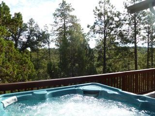 Prescott house photo - Prescott hot tub in the woods. Crickets chirping, wind in the trees, ahhhhhh.