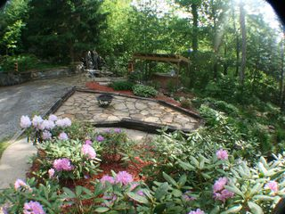 Maggie Valley estate photo - Hot Tub -- Water Falls -- Fire Pit Patio