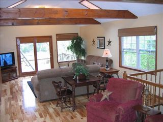 Burnside cabin photo - Family Room With Plenty Of Seating-Plus Game Table