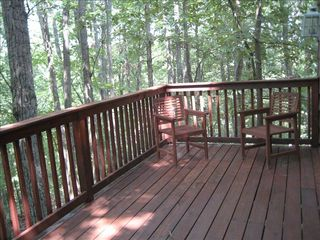 Massanutten house photo - .Back deck with forest view - see pictures of visiting deer