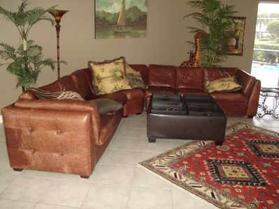 LEATHER COUCH IN MAIN LIVING ROOM