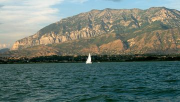 Utah lake less than a mile away