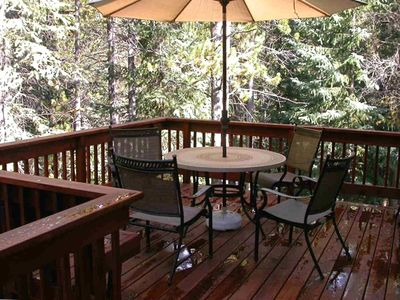 Winter Park house rental - Dining on the deck