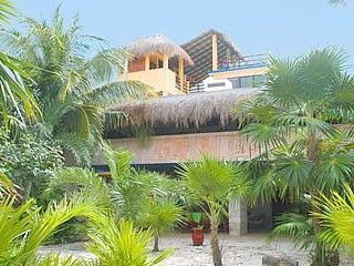 Akumal villa photo - Casa del Sol, through garden on the lagoon side.