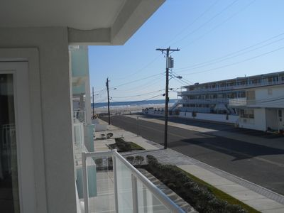Wildwood Crest condo rental - ocean view from balcony