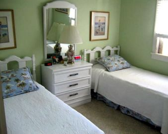 Bedroom with Twin Beds and Two Closets