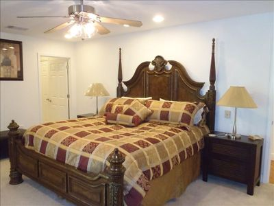 Master Bedroom, King bed and attached Full Bath