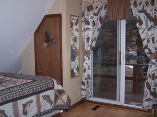 Chazy Lake house photo - Upstairs Bedroom Sliding Doors to Deck