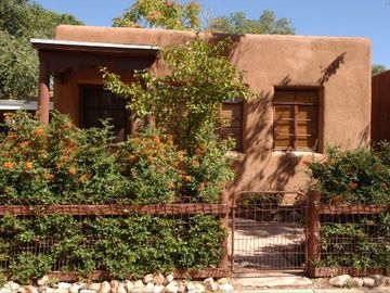 Santa Fe cottage rental - Casa Pequena Entry, quite location in the hear to Santa Fe. Off street parking
