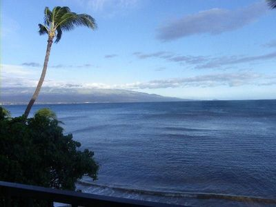 View towards Kihei and Wailea from our lanai.