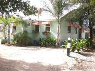 Crushed white limestone yard - Tybee Island cottage vacation rental photo