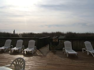 Cherry Grove Beach condo photo - View from Nellie's Nook deck -oceanfront