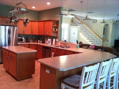 Large kitchen with gas stove