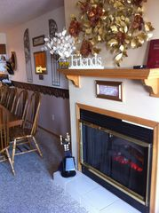 Branson townhome photo - Electic fireplace for year around esthetics and heat as needed