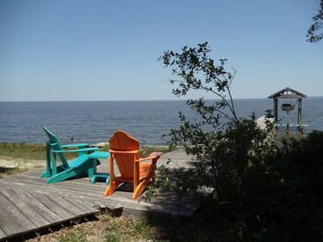Gulf Shores cottage rental - Relax on the pier and watch the dolphins at Lantana Cottage