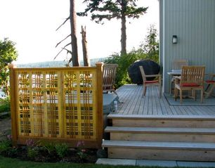 Port Ludlow house photo - Outside entertaining area with hot tub, gas BBQ, dining area