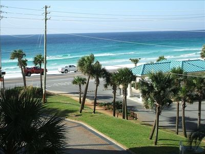 Destin condo rental - View from Balcony, Gulf 500 feet from balcony and Resort Front Doors