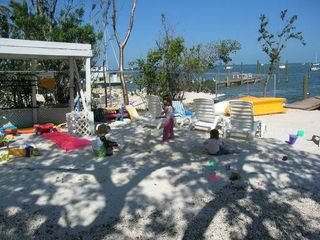 Key Largo cottage photo - Kids' playground on a white sandy beach...