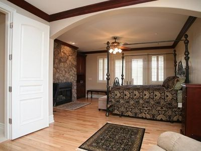 Las Vegas castle rental - Master Suite with Sitting area, Fireplace, Entertainment Center and Desk