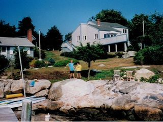 Mystic house rental - Photo of house taken from deep water dock