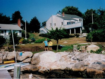 Photo of house taken from deep water dock