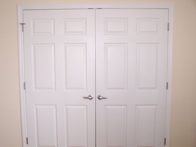 Double sized closets in all bedrooms