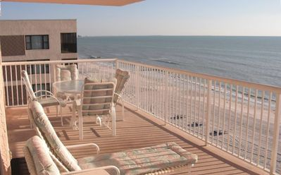 Extra Large Balcony directly on the beach/Gulf to enjoy the view