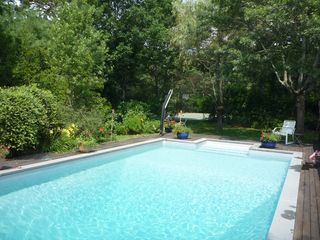 East Hampton house photo - pool (tennis court visible at rear)
